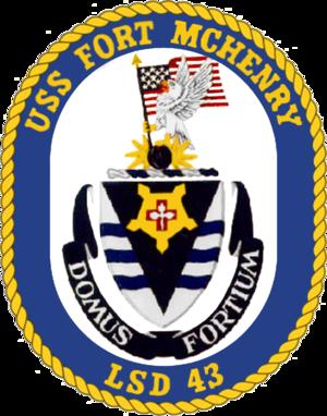 USS Fort McHenry (LSD-43) - Image: USS Fort Mc Henry LSD 43 Crest