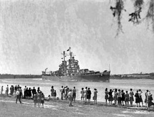 USS Houston (CL-81) on Buffalo Bayou c1945.jpg