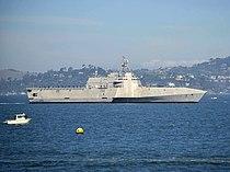 USS Manchester (LCS-14) underway in San Francisco Bay on 5 October 2018 (181005-N-GZ228-075).JPG