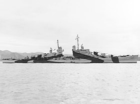 USS San Diego (CL-53) off the Mare Island Naval Shipyard on 10 April 1944 (19-N-64793).jpg