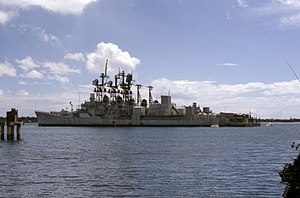 USS Somers (DD-947) - Somers mothballed with other ships at Pearl Harbor.