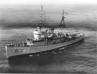 Tugboat - Fleet tug USS Tawasa (1,255 tons, 205 ft) which towed a nuclear depth charge as it was detonated in Operation Wigwam in 1955