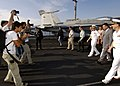 US Navy 050517-N-9742R-018 Croatian Minister of Defense, Berislav Roncevic tours the flight deck of the nuclear-powered aircraft carrier USS Enterprise (CVN 65).jpg