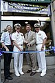 US Navy 050614-N-6157F-010 Vice Chief of Naval Operations (VCNO) Adm. Robert F. Willard, second from left, cuts the ribbon at the Navy Memorial's new ship's store.jpg