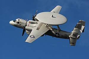 VAW-117 - Image: US Navy 051104 N 8158F 077 An E 2C Hawkeye conducts a fly over during an airpower demonstration