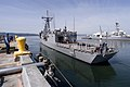 US Navy 070518-N-3390M-002 Guided missile frigate USS Ingraham (FFG 61) makes sternway while maneuvering to moor pier side at her homeport Naval Station Everett. Ingraham is returning from a two week Trident Fury exercise on th.jpg