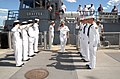 US Navy 070711-N-0318S-002 Vice Adm. Terrance Etnyre, commander of Naval Surface Force, U.S. Pacific Fleet, salutes the Sea Cadets performing as sideboys of the U.S. Naval Sea Cadet training ship Grayfox (TWR 825).jpg