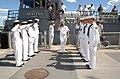 US Navy 070711-N-0318S-002 Vice Adm. Terrance Etnyre, commander of Naval Surface Force, U.S. Pacific Fleet, salutes the Sea Cadets performing as sideboys of the U.S. Naval Sea Cadet training ship Grayfox (TWR 825).jpg