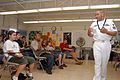 US Navy 071127-N-9758L-063 Navy Counselor 1st Class (SW-AW) Richard Stewart, assigned to Naval Station Pearl Harbor, speaks to students from Radford High School during the school's 10th annual Career Fair.jpg