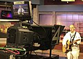 US Navy 080805-N-1928O-014 Mass Communication Specialist 3rd Class and American Idol finalist Phil Stacey performs live on Spokane's KXLY Good Morning Northwest television broadcast.jpg