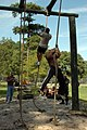 US Navy 080903-N-9095H-121 Navy Expeditionary Combat Command (NECC) personnel compete in the rope climb event during the NECC inaugural Toughman Competition.jpg
