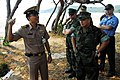 US Navy 090203-N-7843A-081 A Royal Thai Navy officer describes the plan for the Cobra Gold 2009 to Lt. Cmdr. Ron Mangsat and other members of Task Force 76.jpg