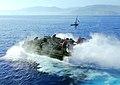 US Navy 100122-N-5214S-027 A landing craft air cushion exits the well deck of USS Bataan (LHD 5).jpg