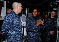 US Navy 100216-N-6764G-002 Vice Adm. Mel Williams Jr. discusses with the crew of USS Stout (DDG 55) what their role is during Operation Bold Spectrum.jpg