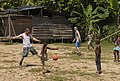 US Navy 100816-N-5319A-231 Sailors and Marines from USS New Orleans (LPD 18) play soccer with Colombian children after conducting an Amphibious-Southern Partnership Station 2010 community service project.jpg