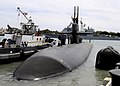 US Navy 110405-N-UK333-090 USS Bremerton (SSN 698) departs Joint Base Pearl Harbor-Hickam for a six-month deployment to the western Pacific region.jpg