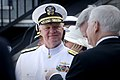 US Navy 110527-N-ZB612-018 Chief of Naval Operations (CNO) Adm. Gary Roughead speaks with Secretary of Defense the Honorable Robert M. Gates during.jpg