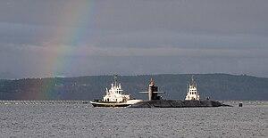US Navy 120121-N-GU530-007 A rainbow appears off the bow of the Ohio-class ballistic-missile submarine USS Henry M. Jackson (SSBN 730) as it return.jpg