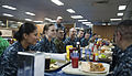 US Navy 120204-N-CS815-017 Chief of Naval Operation (CNO) Adm. Jonathan Greenert has a meal with sailors on the mess decks aboard the amphibious as.jpg