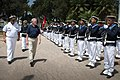 US Secretary of the Navy Ray Mabus with Tunisian honor guard sailors at Bizerte Naval Base.jpg