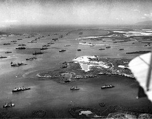Guantanamo Bay Naval Base - US Fleet at anchor, 1927