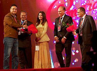 Ujwal Ghimire - Ghimire receiving best Director's NEFTA Film Awards in 2016