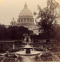 Underwood & Underwood © 1897 No. 38 - St Peter's from the Vatican Gardens, Rome, Italy (detail).jpg