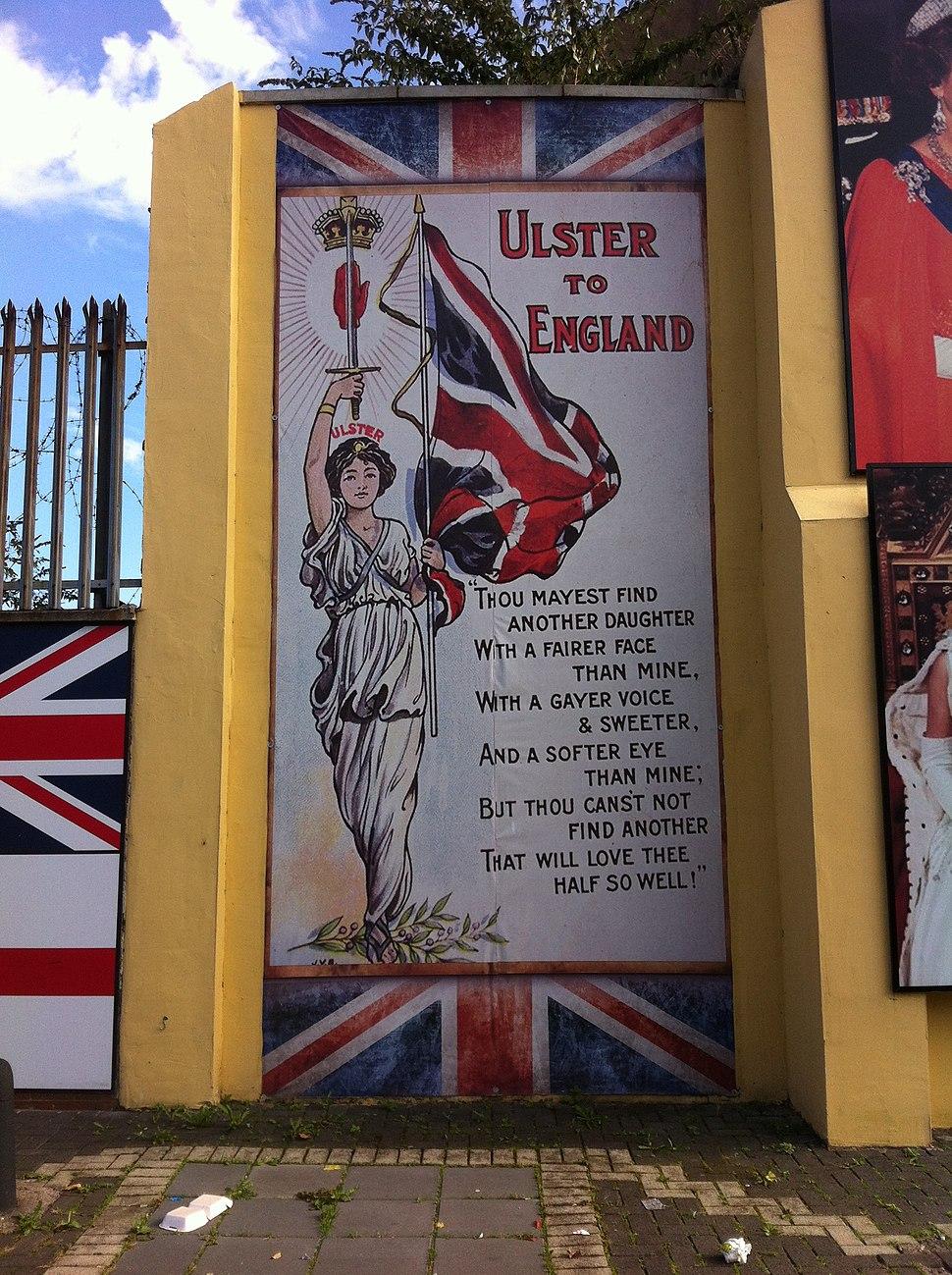 Unionist mural, Shankill - panoramio