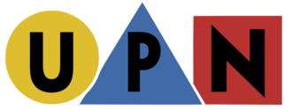"UPN - The UPN colorful shapes logo, used from 1995 to 1998, and in various iterations from 1998 to 2002 (though the ""primary colors"" variant continued on some affiliates and in print advertising until 2002)."