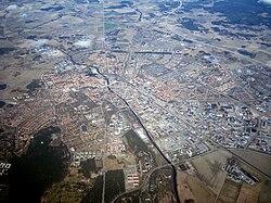 Uppsala, aerial view
