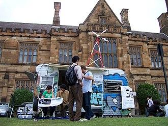 University of Sydney Union - Sydney University Radio Group stall at Orientation Week