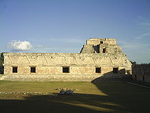 Arquitectura maia em  Uxmal.