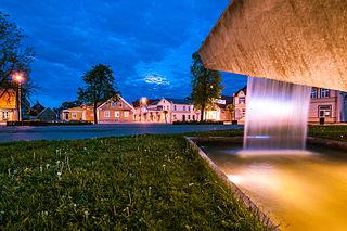 Võru Town in Võru County, Estonia