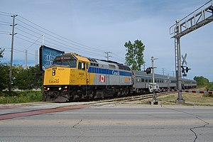 Via Rail - Via Rail F40PH-2 in Windsor, Ontario