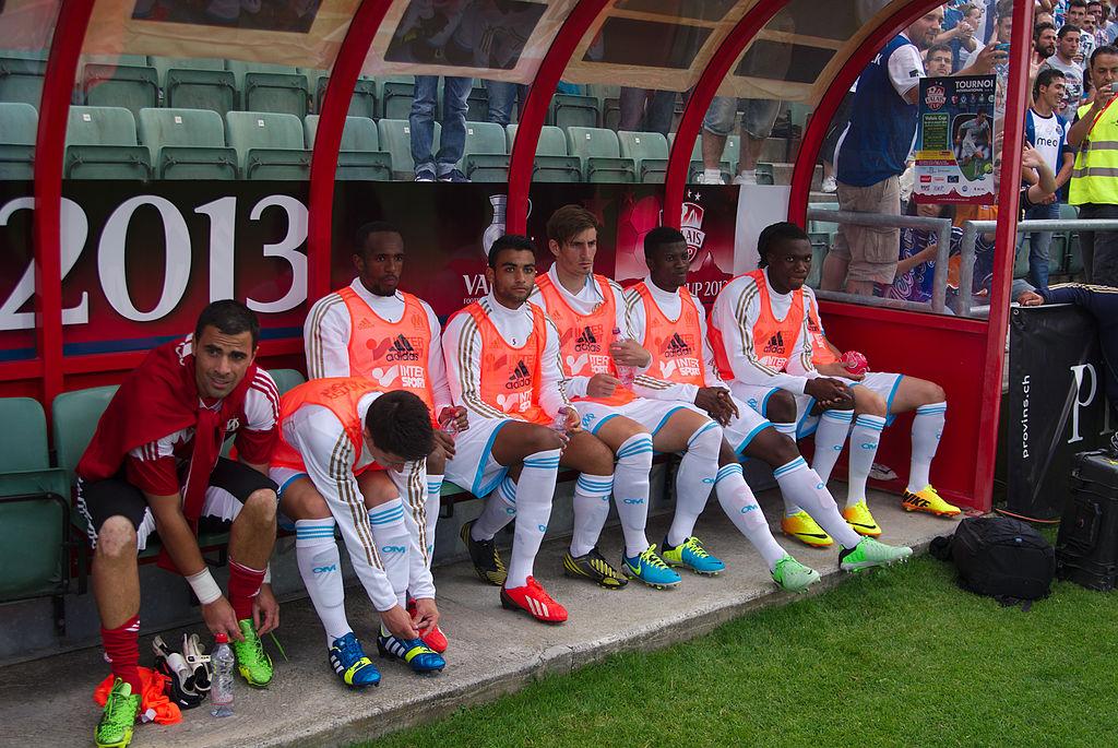 Valais Cup 2013 - OM-FC Porto 13-07-2013 - Banc marseillais