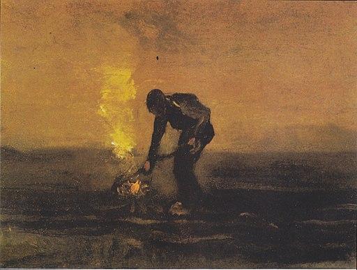 Van Gogh - Bauer, Unkraut verbrennend