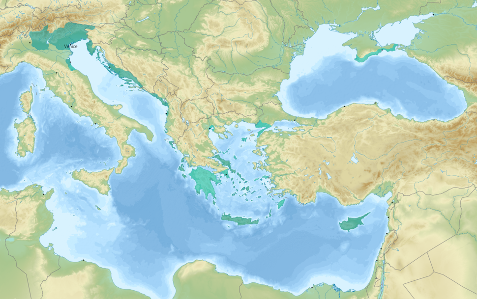 Diachronic map of the Republic and the Venetian Empire.