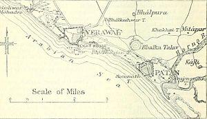 Veraval - Veraval Somnath Environ map 1911