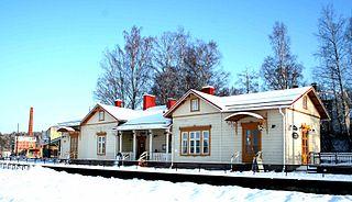 Vesijärvi railway station Railway station in Lahti, Finland