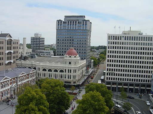 View looking west-south-west from the Cathedral Tower, Christchurch