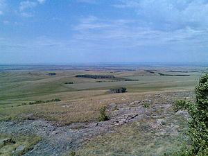 Kizilsky District - View to the village Gryaznushensky, Kizilsky District