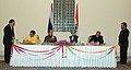 Vilas Muttemwar and the Minister of Energy of the Kingdom of Thailand Mr.Piyasvasti Amaranand signing an MoU on Enhanced Cooperation in the Field of Renewable Energy in the presence of the Prime Minister.jpg