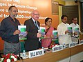 Vilasrao Deshmukh and the Minister of State (Independent Charge) for Environment and Forests, Smt. Jayanthi Natarajan released 'Green Economy for Sustainable Mountain Development' -A concept paper for Rio+20 and beyond book.jpg