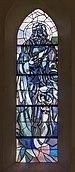 Villach Sankt Leonhard Pfarrkirche hl. Leonhard Mosaikfenster 24092018 4767.jpg