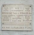 Villefranche-sur-Saône - Plaque trilingue Pierre Renoud et Jean Echallier morts (nov 2018).jpg