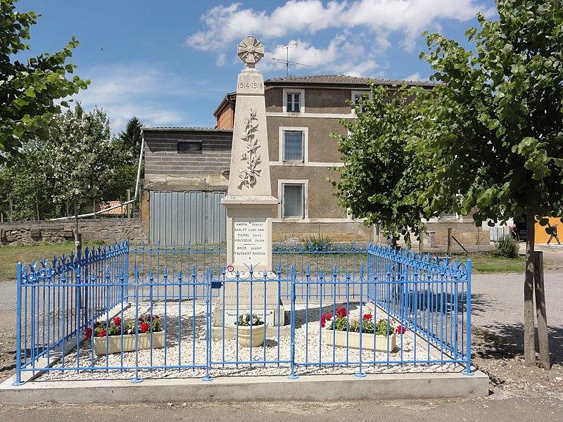 Villers-lès-Mangiennes (Meuse) monument aux morts