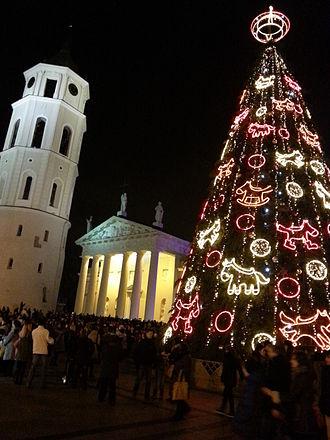 Cathedral Square, Vilnius - Vilnius Cathedral Square in winter