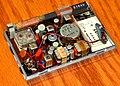 Vintage Toshiba International Transistor Radio (Chassis), Model 6P-35, AM Band, 6 Transistors, Made In Japan The Tokyo Shibaura Electric Company, Circa 1966 (48677249338).jpg