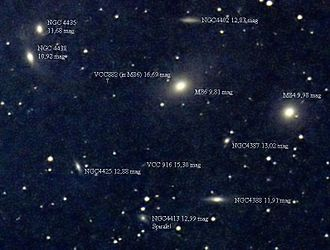 Intergalactic star - The Virgo cluster of galaxies, where the phenomenon known as intergalactic stars was discovered.