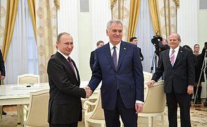 Tomislav Nikolić - Tomislav Nikolić meeting Vladimir Putin in Moscow, 2016.